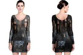 Testament Chuck Image LONG SLEEVE BODYCON DRESS - $25.99+