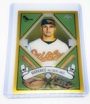 MLB NICK MARKAKIS BALTIMORE ORIOLES 2008 TOPPS CHROME 400 DESIGN SERIES ... - $2.60