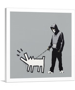 ARTCANVAS Choose Your Weapon Keith Haring Dog - Gray Canvas Art Print by... - $41.99+