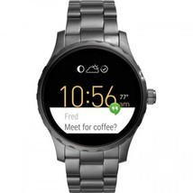Fossil Q Gen 2 Marshal Smoke Ion-Plated Bracelet Touchscreen Smart Watch... - $395.99