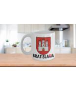 Bratislava Mug Coat of Arms Slovakia Flag Coffee Cup Chirstmas Ceramic W... - £10.72 GBP+