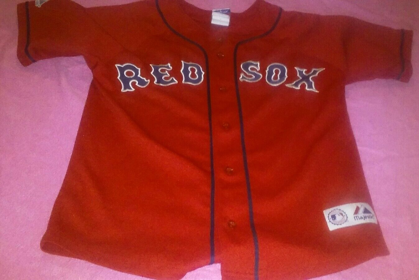 Primary image for Daisuke Matsuzaka Boston Red Sox  Majestic Jersey Red MLB Youth  Sz 10-12