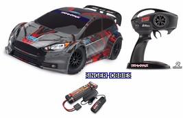 Traxxas 74054-4 Ford Fiesta ST Rally 1/10 Radio Control Rally Racer w/ N... - $319.95