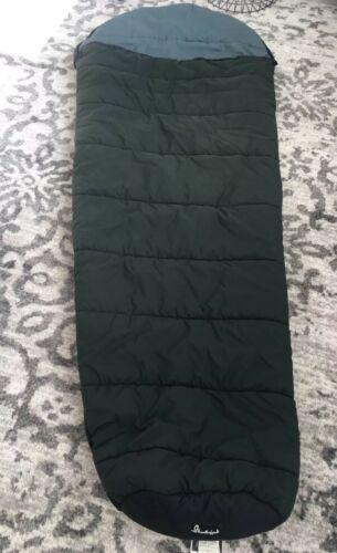"""SLUMBERJACK Sleeping Bag Rogue River Hollofil II Washable Dark Green 32"""" x 82"""""""
