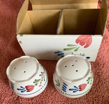 """Nikko China AVONDALE Salt & Pepper Shakers 478898 In Original Box 2.25"""" image 4"""