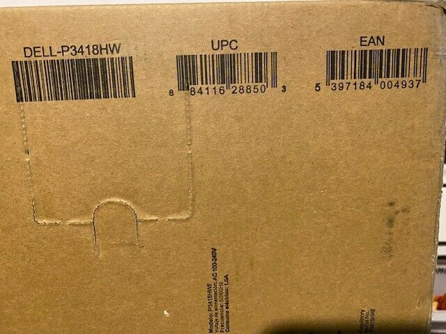 """Dell P3418HW 34"""" 21:9 IPS Curved Monitor Brand New In Box"""
