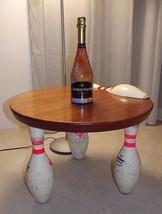 Unique handmade bowling table Scandinavian design mid century - $220.00