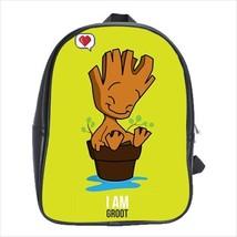 School bag 3 sizes bookbag avengers gotg baby groot - $39.00+