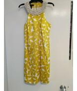 INC International Concepts Pearl Collar Modern PrInt Dress Sz 4 Pre-owned - $24.70