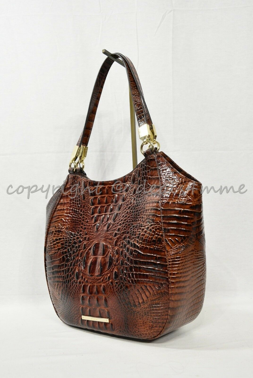 NWT Brahmin Marianna Leather Tote / Shoulder Bag in Pecan Melbourne