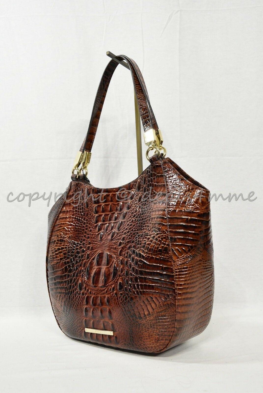 NWT Brahmin Marianna Leather Tote / Shoulder Bag in Pecan Melbourne