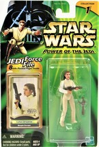 Star Wars Power Of The Jedi Leia Organa Bespin Escape Action Figure New - $12.86