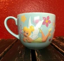 Disney Store Tinkerbell Mug Cup Coffee Tea Large Blue 3D Collectible Disneyana - $26.99