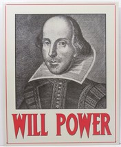 Will Power William Shakespeare Metal Sign - $12.95