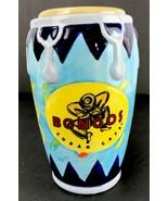 Tiki Bar Mug Ceramic Bongo Drum Cuban Cafe Island Drink Tumbler Holder B... - $24.74