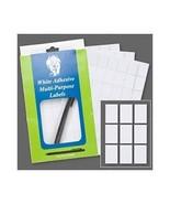 "PLAIN WHITE Blank Adhesive Label Tag 1/2"" x 3/4"" (0.5"" x 0.75"") Box of 1008 - $8.16"