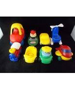 Lot Of 10 Little Tykes Fisher Price Toy Vehicle Lot With Figures - $30.00