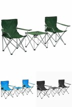 Camping Furniture Set Outdoor Folding Portable Beach Travel Table Chairs... - $58.94