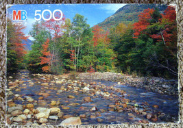 1990 Saco River White Mountains NH MB Croxley 500 PC Jigsaw Puzzle Complete - $7.50