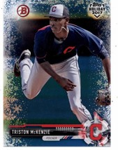 2017 Bowman Holiday Blue Winter Wonderland #TH-TM Triston McKenzie NM-MT /50 Ind - $15.00