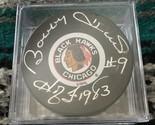 Bobby Hull Signed Chicago Blackhawks Puck w/1983 HOF (JSA) - $67.99