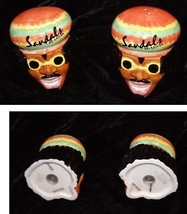 Sandals Resort Rasta Man Salt & Pepper Shakers Souvenir - $16.99