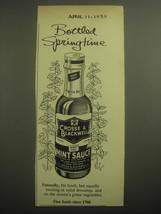 1959 Crosse & Blackwell Mint Sauce Ad - Bottled Springtime - $14.99