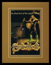 1991 Solstice NES 11x14 Framed ORIGINAL Vintage Advertisement - $34.64