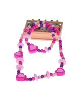 015 new children jewelry sets for girls wooden cute love heart beads necklace bracelet thumbtall
