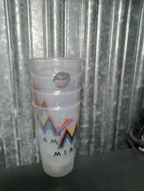 MLB Miami Marlins 4 Pack Plastic Cups Tumblers NL East Set Logo  - $9.85