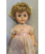 "Vintage  Horsman? Doll U 27 - 22"" Tall/Long blonde hair blue open/close ... - $31.19"