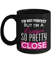Lawyer Mug, Funny Coffee Cup For World's Greatest Lawyers - 11 Oz Ceramic Black - $14.95