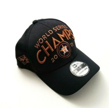 New Era Houston Astros 39Thirty 2017 WS Champs LR Flex Fitted Hat Navy S... - $29.99
