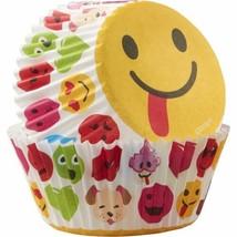 Emoji Treatoji 50 Baking Cups Party Cupcakes Liners Wilton - $3.95