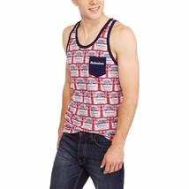 Budweiser Mens Retro Tank Top S M L XL XXL 2XL Label Pocket Tee - $17.72+