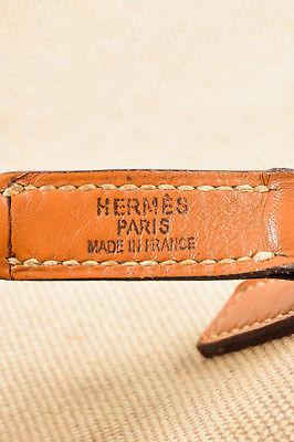 """VINTAGE Hermes Beige Tan Box Calf Leather Canvas """"Trim I"""" Shoulder Bag image 8"""