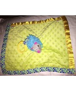 Early Years Hedgehog Green Yellow Blue Satin Security Blanket Lovey Baby... - $13.85