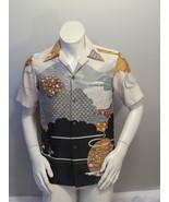 Vintage Hawaiian Aloha Shirt - Abstract Asian Battern by Malihini - Mens... - $65.00