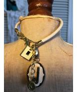 Spartina White Tublar Leather Bracelet - $29.00