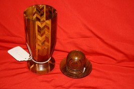 Wooden Chalice, Plate, and Snifter - $10.00