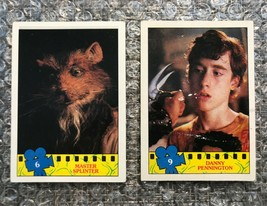 1990 Topps Teenage Mutant Ninja Turtles TMNT Movie Trading Cards Lot: #6 & #9 - $3.13