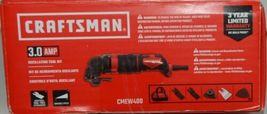Craftsman CMEW400 3.0 AMP Oscillating Tool Kit Corded Red Black New in Box image 4