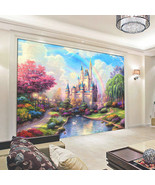 Ural bedding room tv sofa wall backdrop fantasy castle entrance children s room kids 2 thumbtall