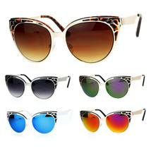 SA106 Art Nouveau Deco Horn Rim Cat Eye Womens Sunglasses - $12.95