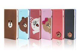 LINE Friends Diary / Badge Lighting Case iPhone 7/7 Plus Mobile Skin Cov... - $48.44+