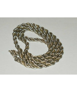 """Tiffany &Co Twisted 18K Gold & Sterling Silver Twisted Rope Necklace Vintage 18"""" - $338.68"""