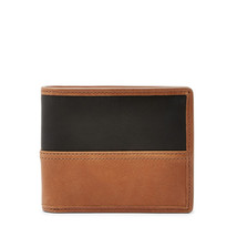 fossil man genuine leather wallet Tate RFID Bifold with Flip ID - $27.00