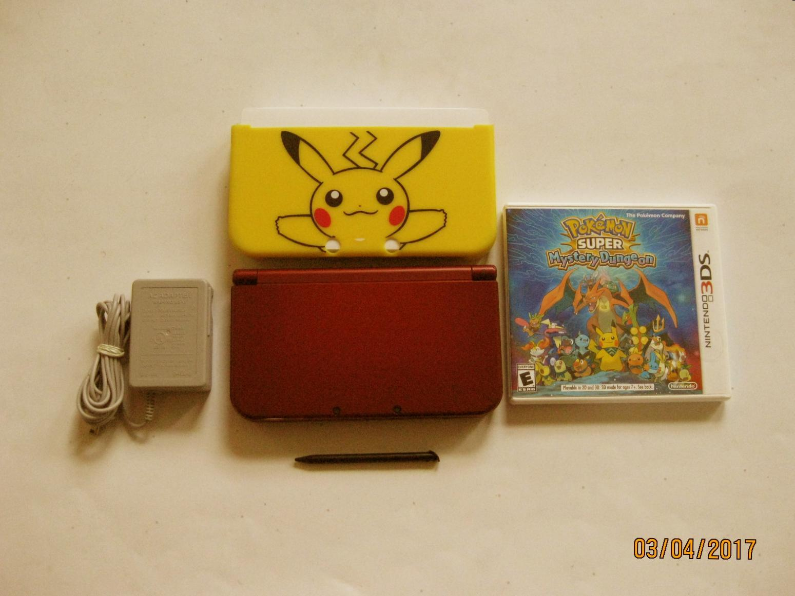 Primary image for Red Nintendo New 3ds xl  w Pokemon Super Mystery Dungeon  & More!!!