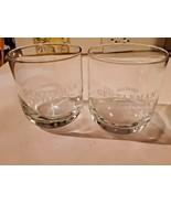 Jack Daniels Gentleman Jack Etched Sipper Glass Set of 2 - $18.80