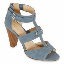 Liz Claiborne Womens Gaby Heeled Sandals 7.5W Blue NEW - $70.27
